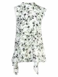Nicole Miller floral sleeveless top - White