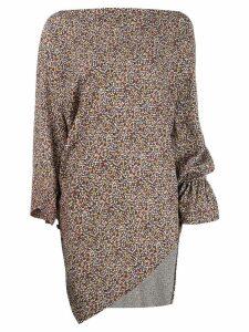 Vivienne Westwood Anglomania floral print top - Black