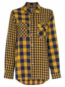 Double Rainbouu oversized check shirt - Blue