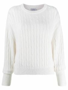 Brunello Cucinelli ribbed knit sweater - White
