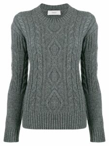 Pringle of Scotland cable-knit fitted sweater - Grey