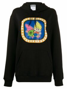 Moschino graphic print hooded sweater - Black