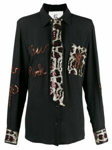 5 Progress New York sequin tie shirt - Black