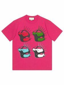 Gucci Gucci Manifesto oversize T-shirt - PINK
