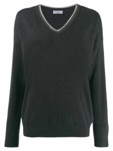 Brunello Cucinelli V-neck sweater - Grey