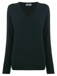 Brunello Cucinelli V-neck knit top - Blue