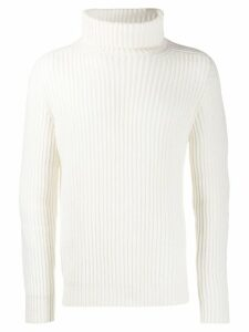 Iris Von Arnim roll neck jumper - White