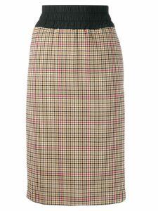 Vivienne Westwood Anglomania plaid print skirt - NEUTRALS