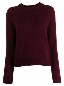 Ganni Port Royale Knit Pullover - Red