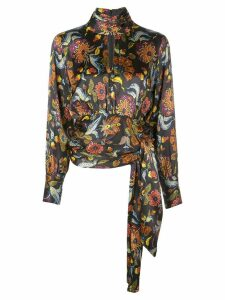 Cinq A Sept Jacqueline paisley top - Black