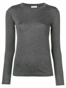 Brunello Cucinelli long-sleeve fitted sweater - Grey