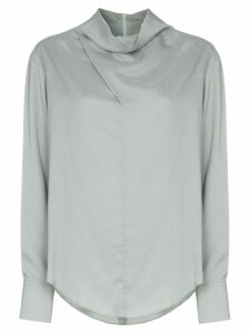 Low Classic cowl-neck blouse - Green