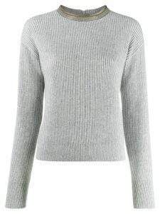 Brunello Cucinelli ribbed knit sweater - Grey