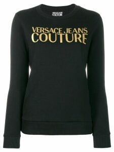 Versace Jeans Couture gold logo print jumper - Black