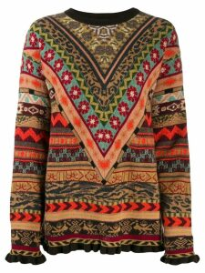 Etro geometric jacquard sweater - Brown