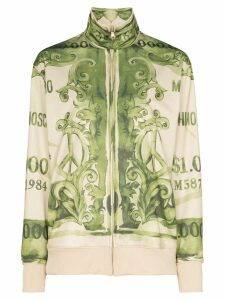 Moschino bank note print sweatshirt - Green