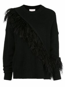 Cinq A Sept Merritt fringed detail sweater - Black