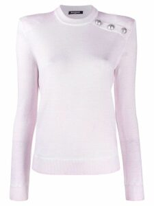 Balmain buttoned knitted jumper - White