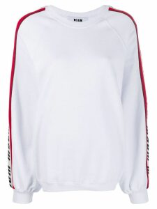 MSGM logo tape sweatshirt - White