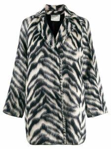 Forte Forte jacquard zebra coat - Blue