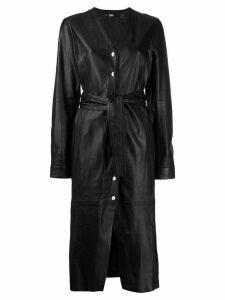Karl Lagerfeld leather midi dress - Black