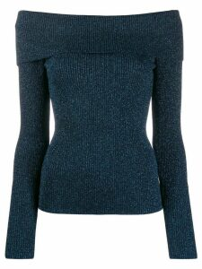 P.A.R.O.S.H. off-shoulder fitted sweater - Blue