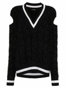 Balmain chunky cable-knit sweater - Black