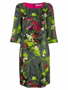 Blumarine floral print midi dress - Green
