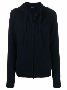 Aspesi zip hooded cardigan - Blue