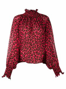 MSGM leopard print blouse - Red
