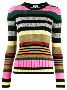 Kenzo long sleeves striped jumper - Black