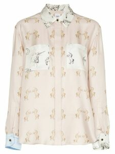 Burberry Alexa dancing unicorn print shirt - PINK