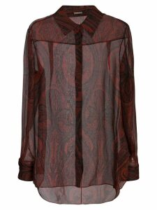 Adam Lippes paisley print shirt - Red