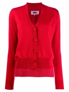 Mm6 Maison Margiela double-layer cardigan - Red