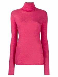 Closed roll neck sweatshirt - PINK