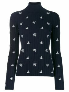 Chloé rose embroidery jumper - Blue