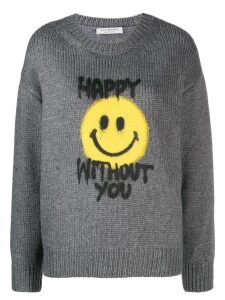 Philosophy Di Lorenzo Serafini Happy Without You jumper - Grey