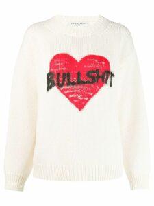 Philosophy Di Lorenzo Serafini slogan knit sweater - NEUTRALS