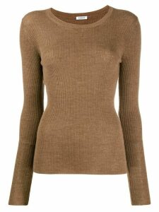P.A.R.O.S.H. long-sleeve fitted sweater - Brown