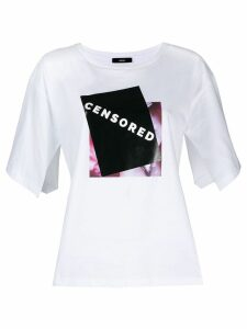 Diesel slogan print T-shirt - White