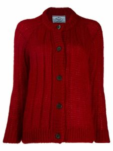 Prada chunky knit cardigan - Red