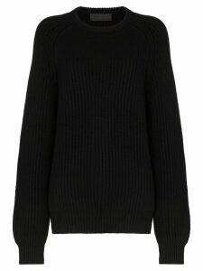 Haider Ackermann ribbed cashmere jumper - Black