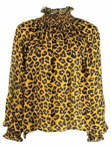MSGM leopard print blouse - Yellow