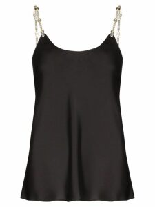Paco Rabanne chain strap sleeveless blouse - Black