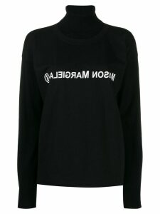 Mm6 Maison Margiela reversed logo double-layer jumper - Black