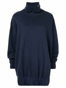 We11done high standing collar sweatshirt - Blue
