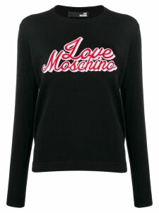Love Moschino stitched logo jumper - Black