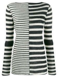 By Malene Birger striped two tone jumper - Black