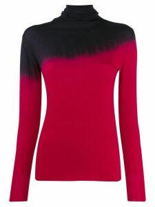 Pierantoniogaspari tie-dye turtleneck top - Red