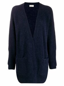 By Malene Birger longline knitted cardigan - Blue